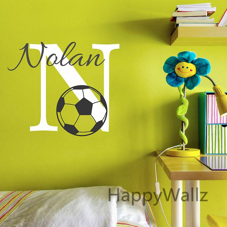 Baby Nursery Football Name Custom Wall Sticker Kids Room Football Children Baby Name Wall Decal Kids Decor Hot Sale C54 fireplace <3 AliExpress Affiliate's Pin.  Offer can be found online by clicking the image