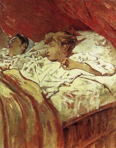 Telemaco Signorini. Bambini colti nel sonno.1890