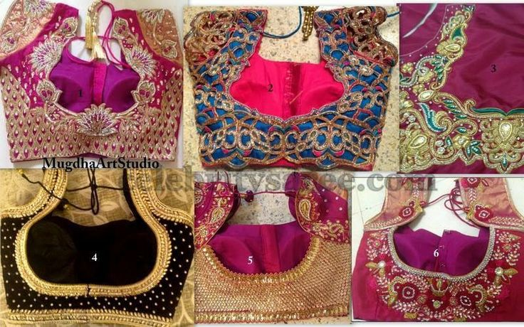 Cut work and Aari Bridal Blouse Designs
