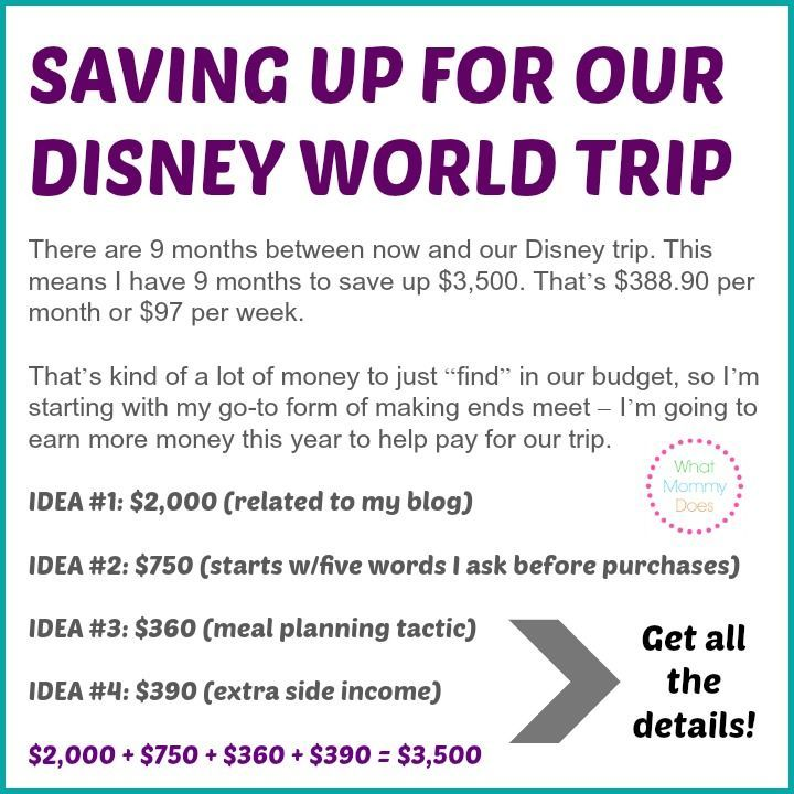 How I'm Saving Up $3,500 This Year For Our Trip to Disney ...
