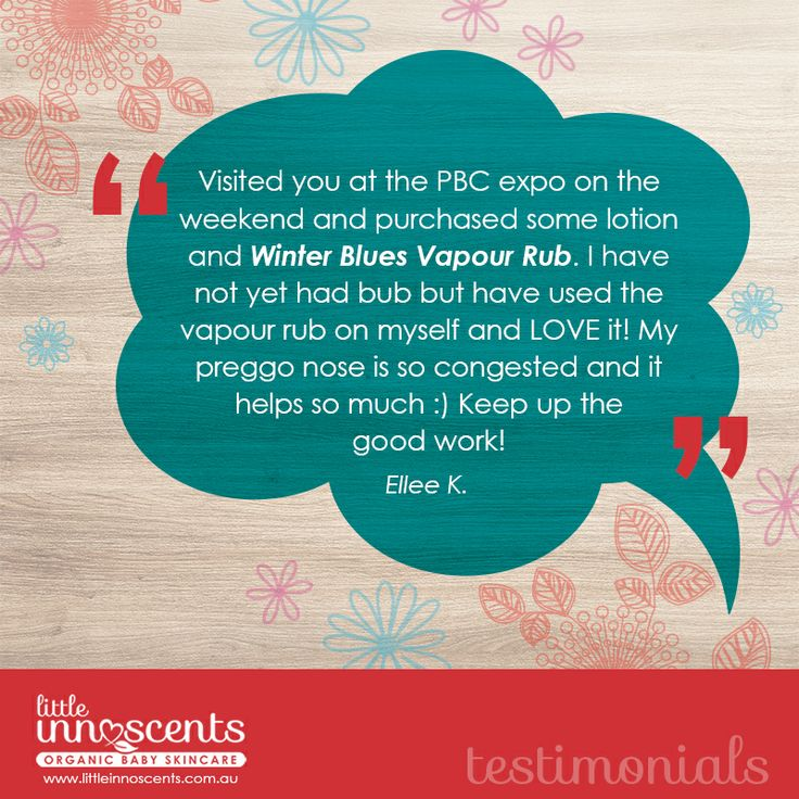 We love feedback like this for our Winter Blues Vapour Balm!  #organic #babycare #babies #newborns