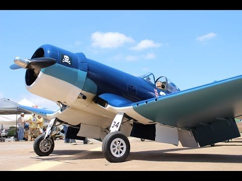 Payerne RC Air-Show 2015 Chance Vought F4U Corsair gigantic and the Sound - YouTube