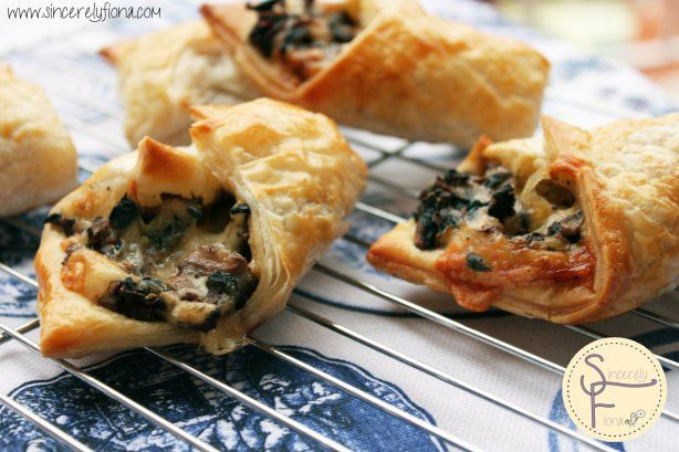 mushroom cheese pastry | Delicious | Pinterest