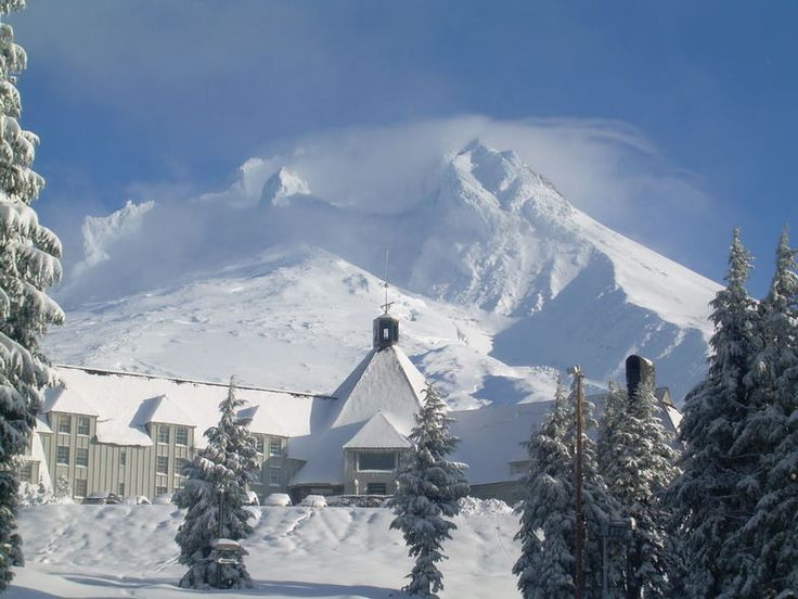 """Timberline Lodge, Oregon (one of the filming locations for the movie """"The Shining"""")."""