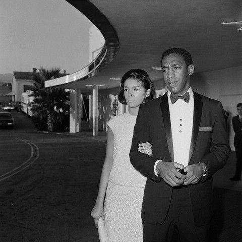 Bill and Camille Cosby arriving for the Emmy Awards in Los Angeles on September 12, 1965. Photo: Bettman/Corbis.