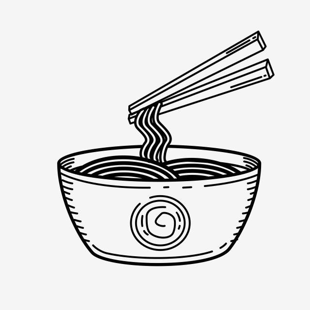 Noodle Vector Illustration With Black Hand Drawn Style Food Noodle Sketch Png And Vector With Transparent Background For Free Download How To Draw Hands Black Hand Noodles