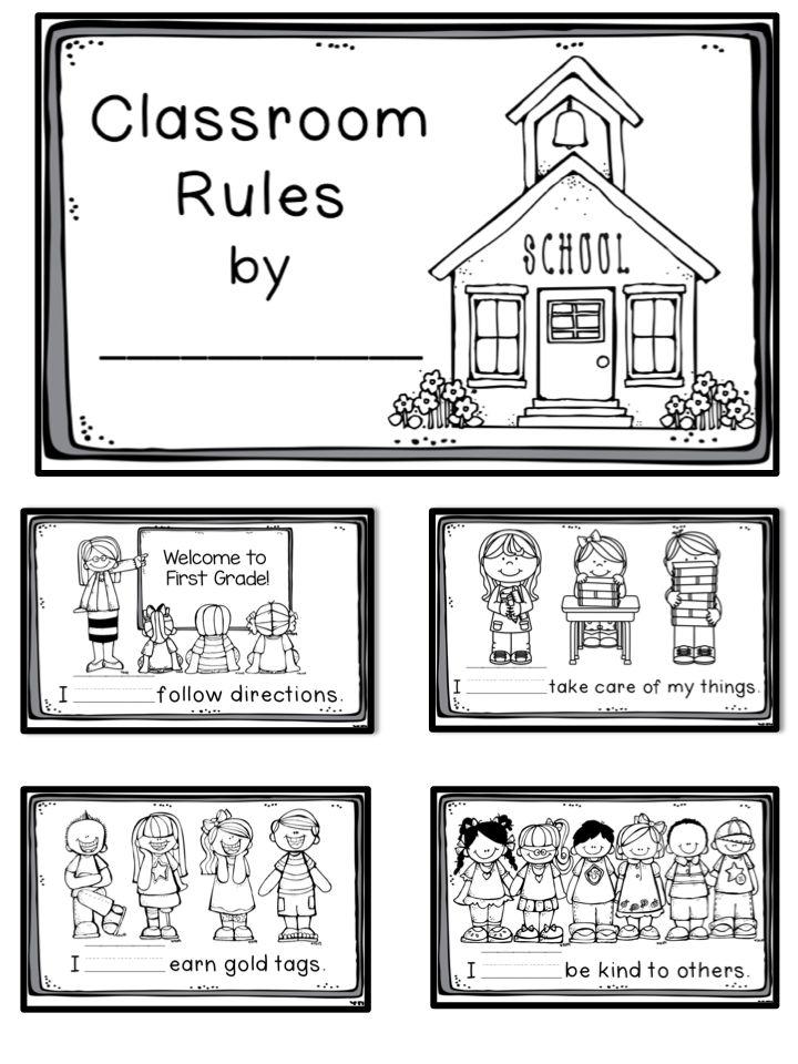 Collaborative Classroom Rules ~ Classroom rules book freebie kinderland collaborative
