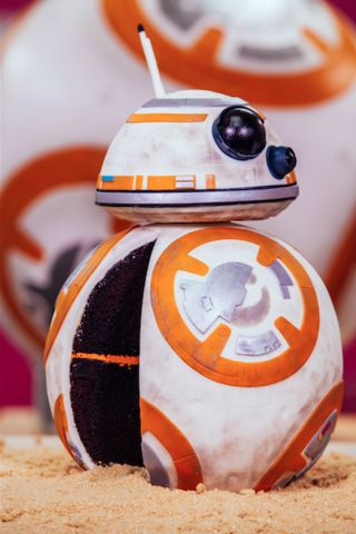 How To Cake It with Yolanda Gampp BB-8 Star Wars Cake Droid Cake Chocolate Cake How To Make Italian Meringue Buttercream Fondant The Force Awakens