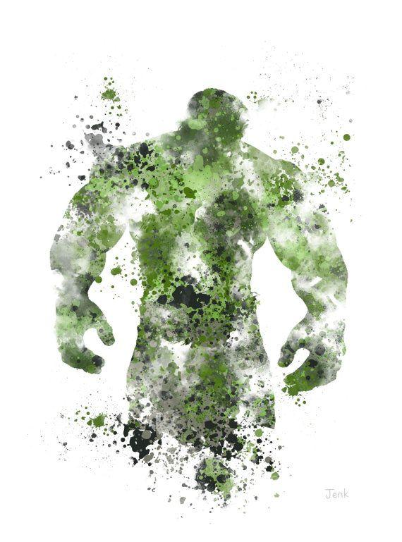 La ilustración impresión de arte de increíble Hulk, superhéroe, decoración casera, arte de la pared, Marvel