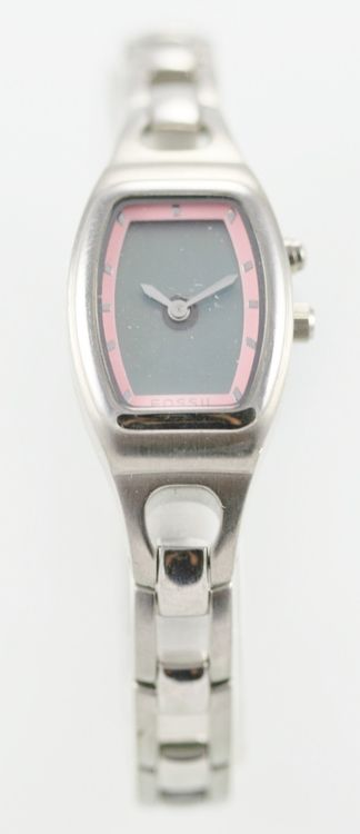 Fossil Big Tic Women's Stainless Steel Silver Case. Parts, Repair Item Only.
