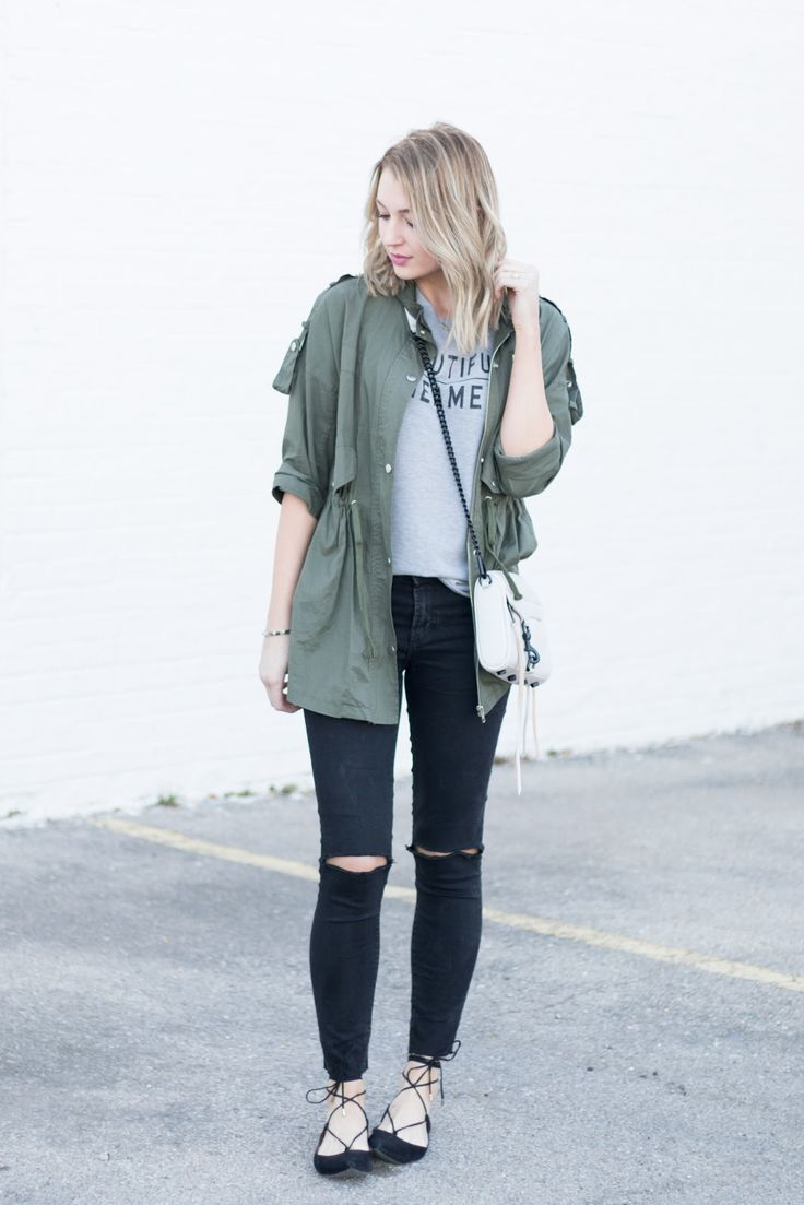 nice olive jacket outfit boots