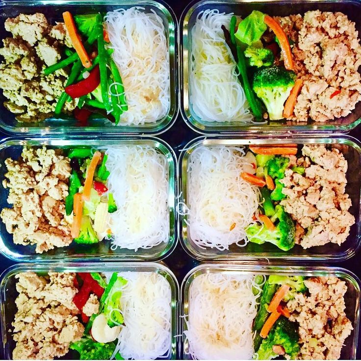 When its hardest to find the time to prep thats when you need it the most! @imprice found time during the holidays to prep these Chicken Spring roll bowls with ground chicken diced veggies and vermicelli rice noodles. So simple effective and frees up more time than it uses to make it. All the while keeping your intake goals on track! - No time like the present to set new goals and take the first step towards shedding fat and building muscle with customized precision meal plans with…