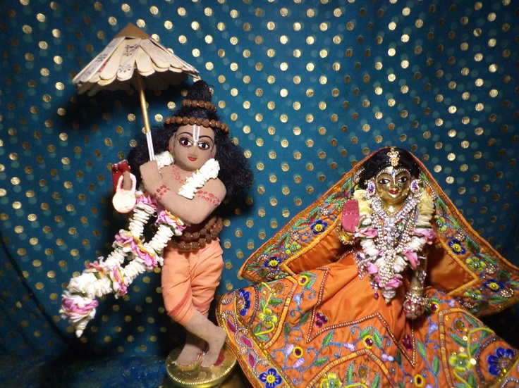 Vaman vesa of Rukmini Dwarkanath for chandan yatra at ISKCON Kaundanyapur
