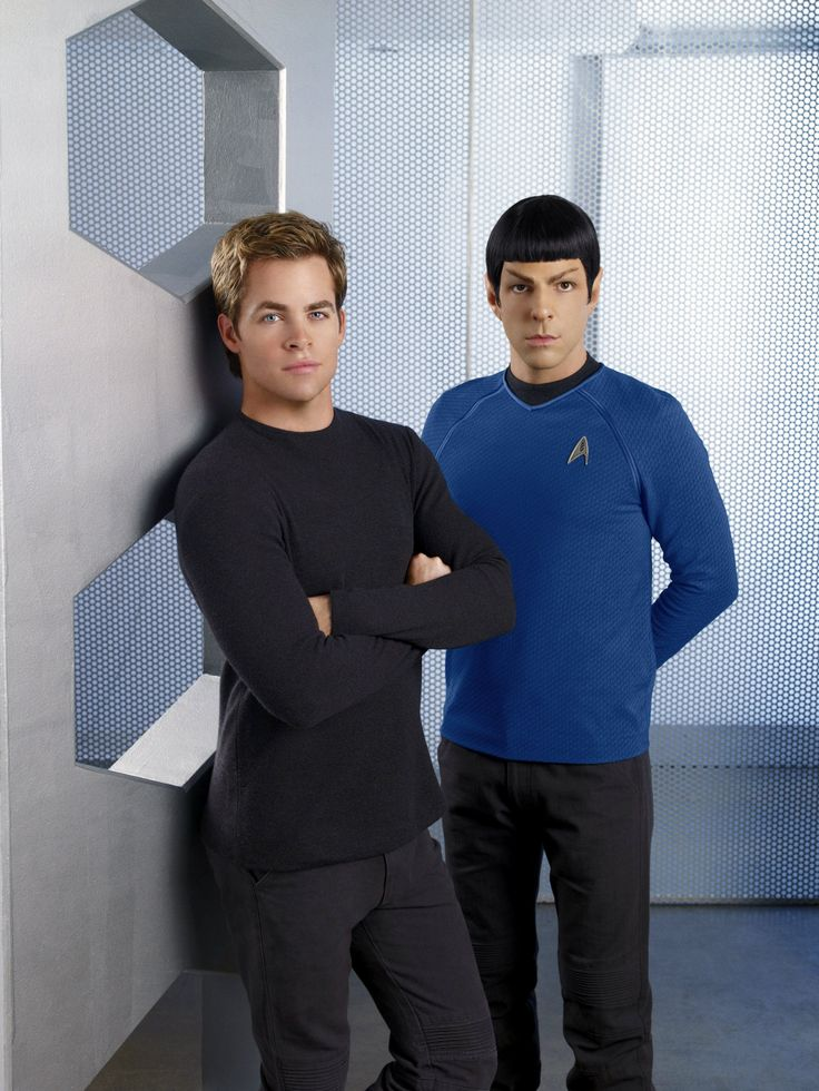 Kirk and Spock. The new Star Trek movie series has the best cast.