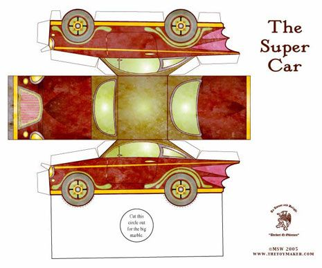 the super car free printable