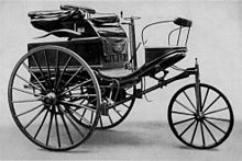 The Benz Patent-Motorwagen Nr. 3 of 1888, used by Bertha Benz for the first long distance journey by automobile (more than 96 km or sixty miles)