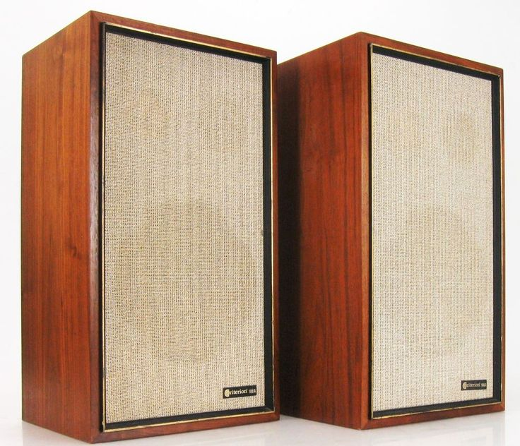 "Criterion 100a speakers 2-way 10"" woofers for tube amps"