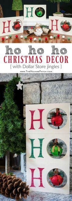 Diy Weihnachtsdekoration   HO HO HO Weihnachtsdekoration   Dollar Store Weihnach…