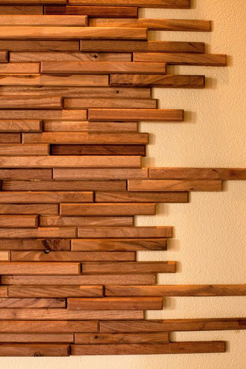 Wood Wall Tiles ~ Everitt & Schilling Tile is a company that specializes in up-cycled and re-claimed handmade wood wall tiles.