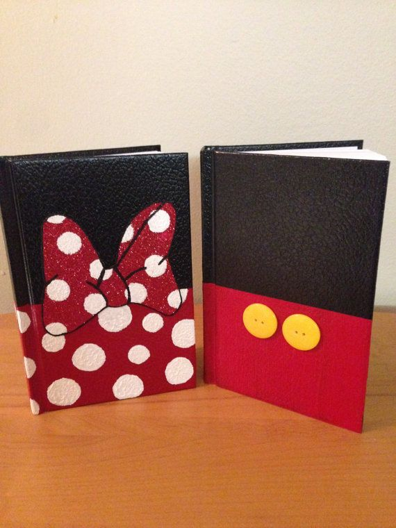 Disney Character Autograph Book- made with paint and buttons/glitter.  Easy enough to do yourself!