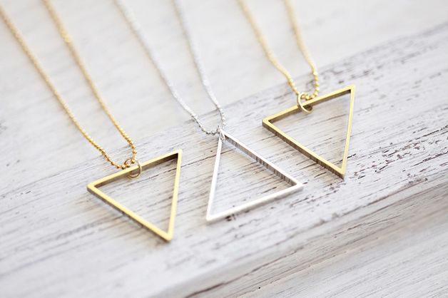 Kette Triangel // necklace triangle by pikfine via DaWanda.com