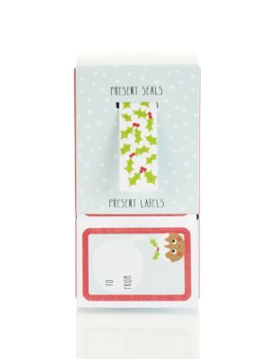 Cute seals and labels for 30 presents - Marks & Spencer