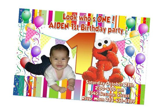 Baby Elmo Personalized Party Printables