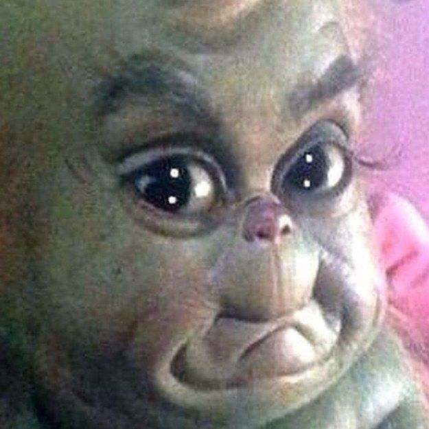 …HIS LIL' BABY GRINCH MOUTH!!!!! HIS WHOLE LIL' JUDGY FACE!!!!! | We Really Need To Discuss Baby Grinch