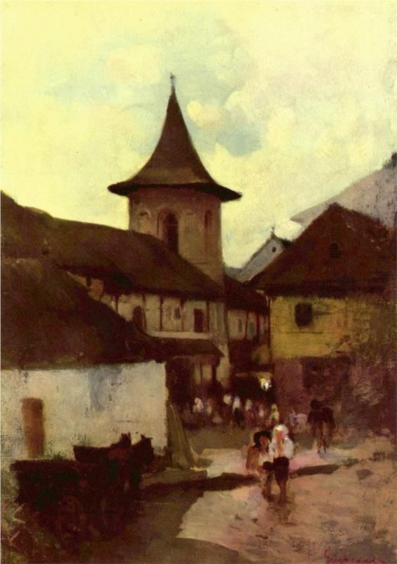 Catholic Church in Cimpulung - Nicolae Grigorescu - WikiPaintings.org