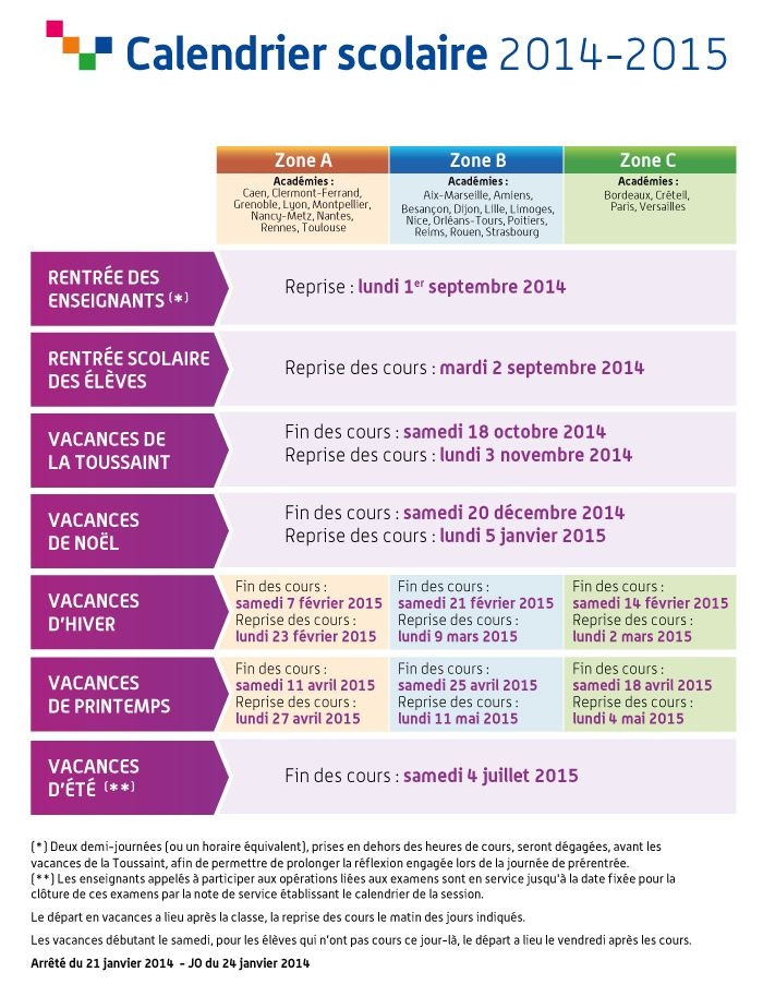 Le #calendrier scolaire 2014-2015, à télécharger ici >> http://educ.gouv.fr/p25058 #rentree2014 #vacances
