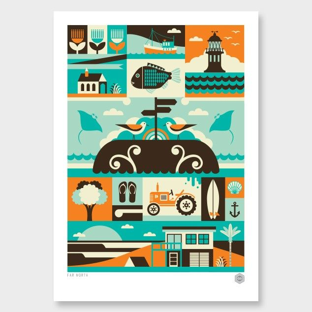 Far North Art Print by Greg Straight - All Prints NZ Art Prints, Art Framing Design Prints, Posters & NZ Design Gifts | endemicworld