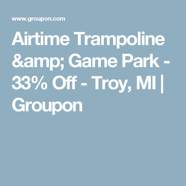 Airtime Trampoline & Game Park - 33% Off - Troy, MI | Groupon