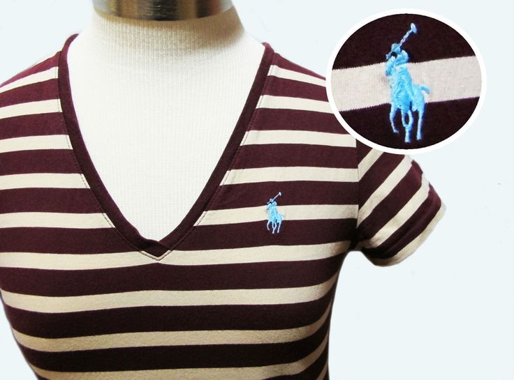 ralph lauren striped tee pony sport