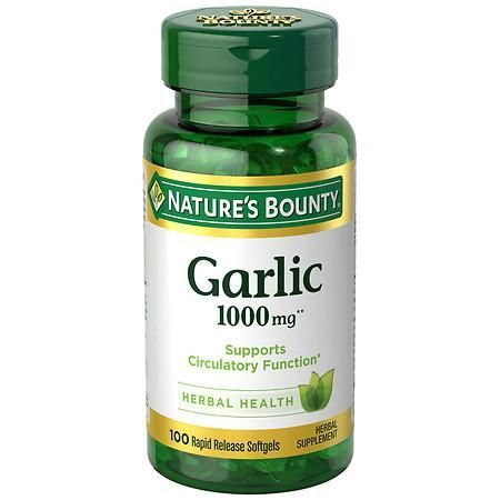 Nature's Bounty Odorless Garlic 1000 mg Dietary Supplement Softgels - 100 ea