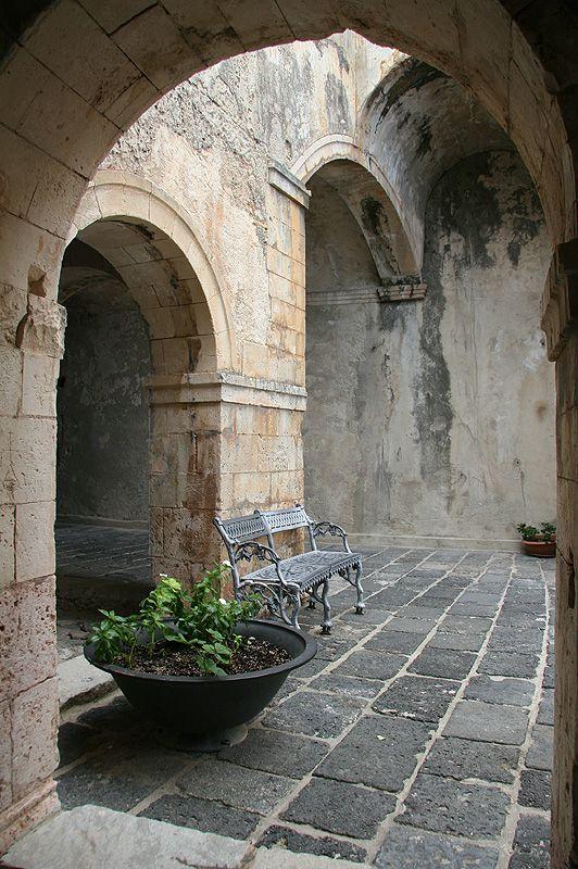 Inside Ruffo Castle in Scilla, Reggio Calabria, Calabria, Italy