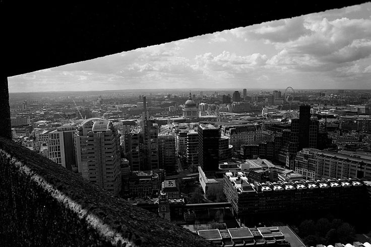 London from one of the Barbican towers