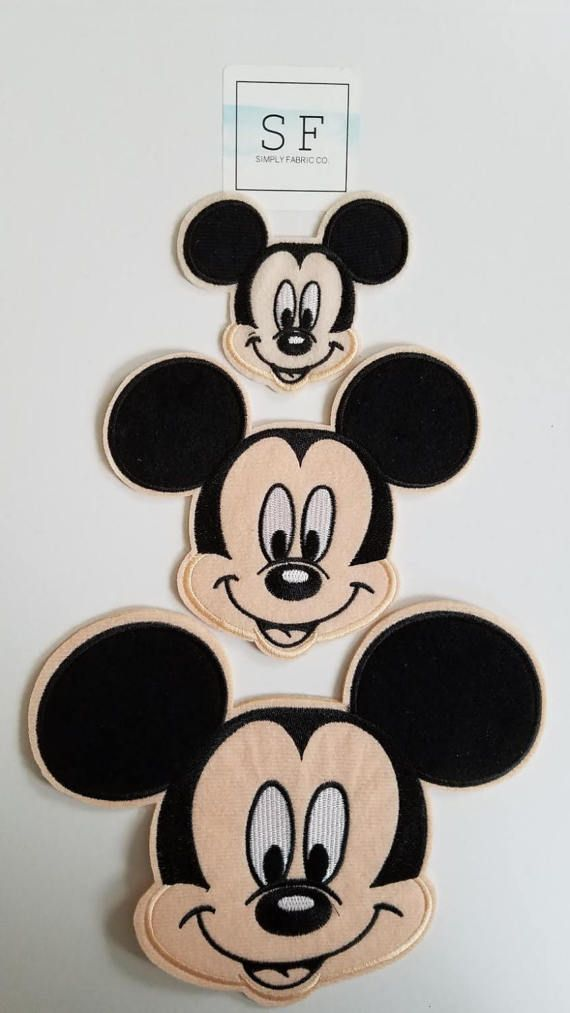 """3/"""" Disney classic mickey mouse hands on hips fabric applique iron on character"""