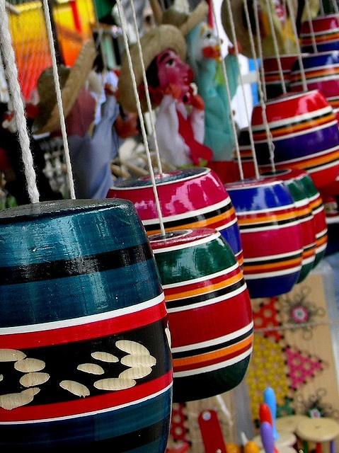 Mexican toys - juguetes mexicanos, Baleros.