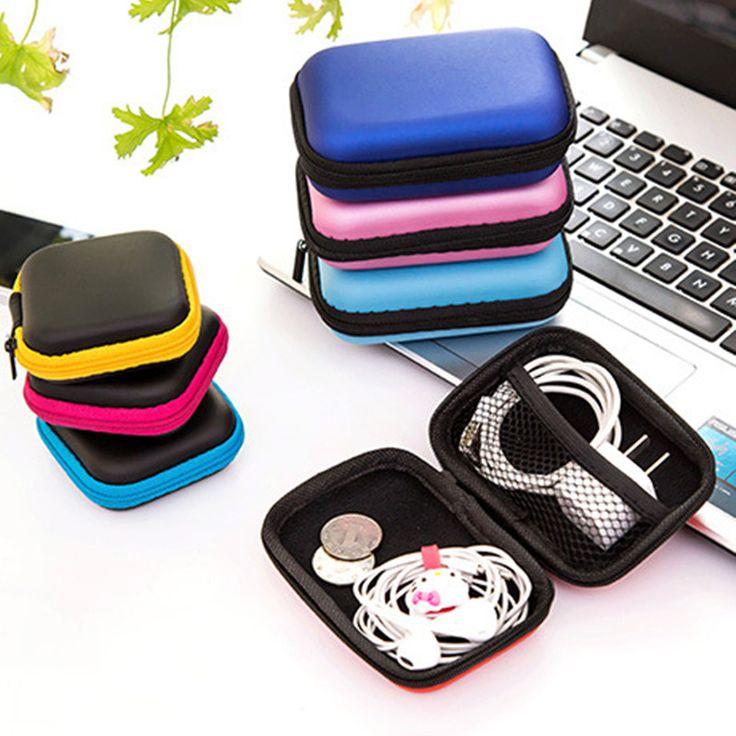 New Colorful Tas Penyimpanan Kabel Earbud Headphone Earphone Hard Case Kotak Travel Kunci Tas Koin Pemegang Kartu SD Gratis Pengiriman 222