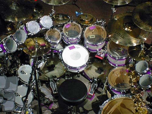 The 'less is sometimes more principal' is slightly misplaced with Mike Portnoy from Dream Theater