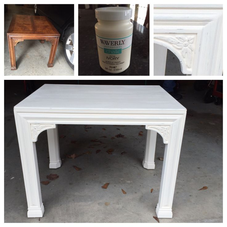 Waverly Chalk Paint Review | Found This Heavy, Solid Wood Henredon End  Table At A Thrift Store For $27.50. Did Not Want To Put Much Money Into  This Project ...