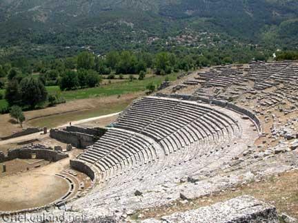 Het prachtige amfitheater van Dodoni in Epirus op het vasteland van Griekenland. The nice Amfi theatre of Dodoni in Epirus on the mainland of Greece.