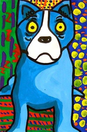 Artsonia Art Museum :: blue dog