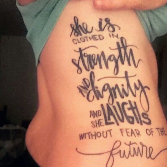 Rib Tattoo She Is Clothed In Strength And Dignity: Best 25+ Tattoos Meaning Strength Ideas On Pinterest