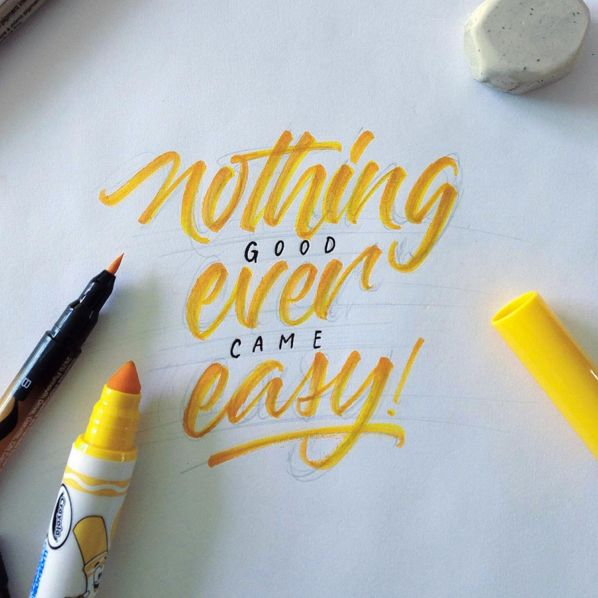 Crayola & Brushpen Lettering Set 4 by David Milan on Behance.