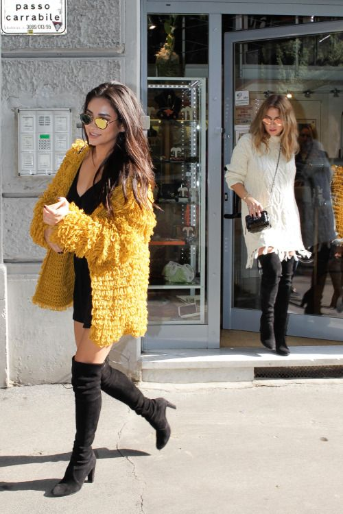 dailyactress:  Shay Mitchell and Ashley Benson out in Milan