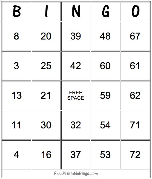 49 Printable Bingo Card Templates - including some blanks to create your own!