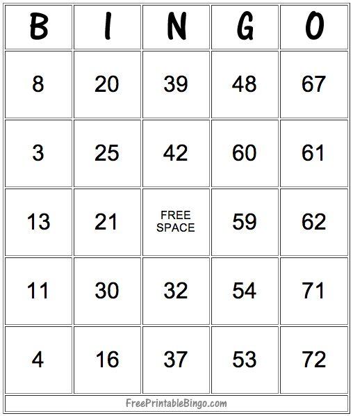 49 Printable Bingo Card Templates Printables Bingo card template