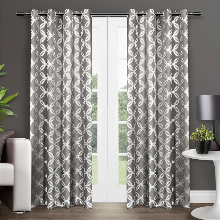Grey,84 Inches,Geometric Curtains: Accentuate the rooms in your home with curtains, which come in a variety of colors, styles, and lengths. Free Shipping on orders over $45!