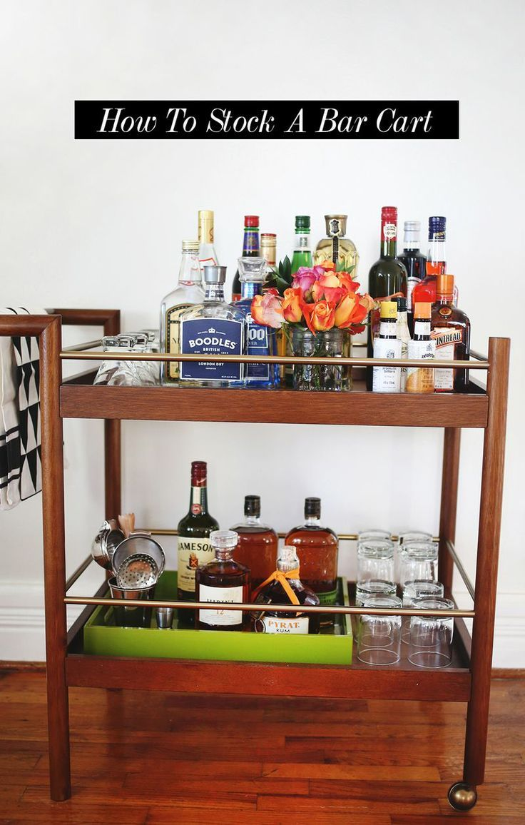 How To Stock A Bar Cart (suggestions for a $50 budget and up!)